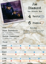 Joe Diamond investigator sheet front.